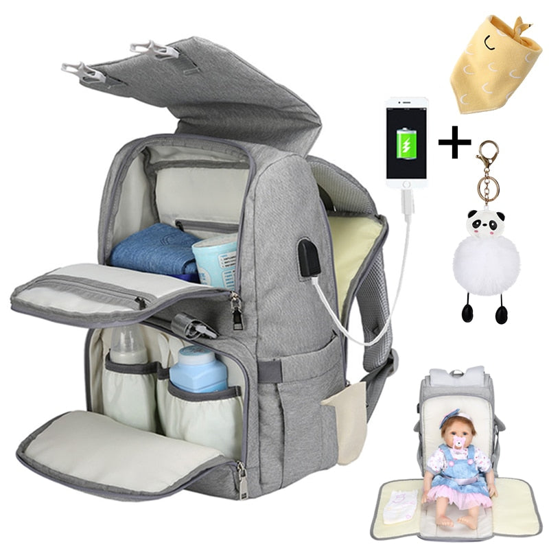 Wet Usb Mummy Maternity Baby Diaper  Backpack - Mammaz Cart
