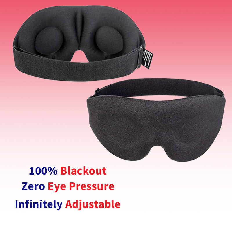 Night Sleep Mask - 3D Contoured Cup Blindfold Concave Molded Night Sleep Mask Block Out Light