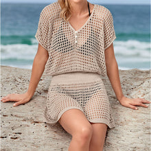 Load image into Gallery viewer, Knitted Beach Cover up Dresses