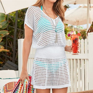 Knitted Beach Cover up Dresses