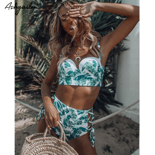 High Waist Swimwear Women Swimsuit