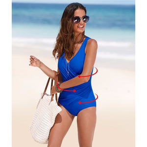 One Piece Swimsuit Women Classic Vintage Swimwear