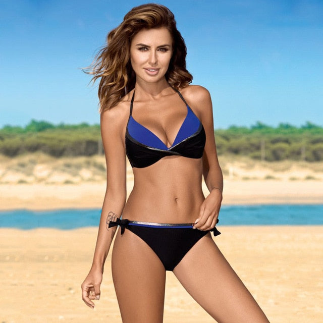 Swimwear Women Sexy Halter String Swimsuit