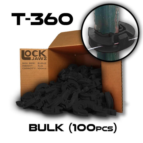 lock jawz 100 pack t post insulator bulk