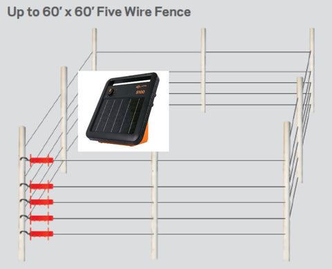 S100 bee hive electric fence kit for bears