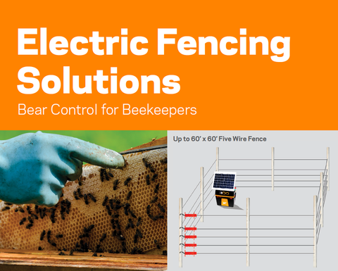 electric fence kit for bears in bee hives and bee keepers fencing