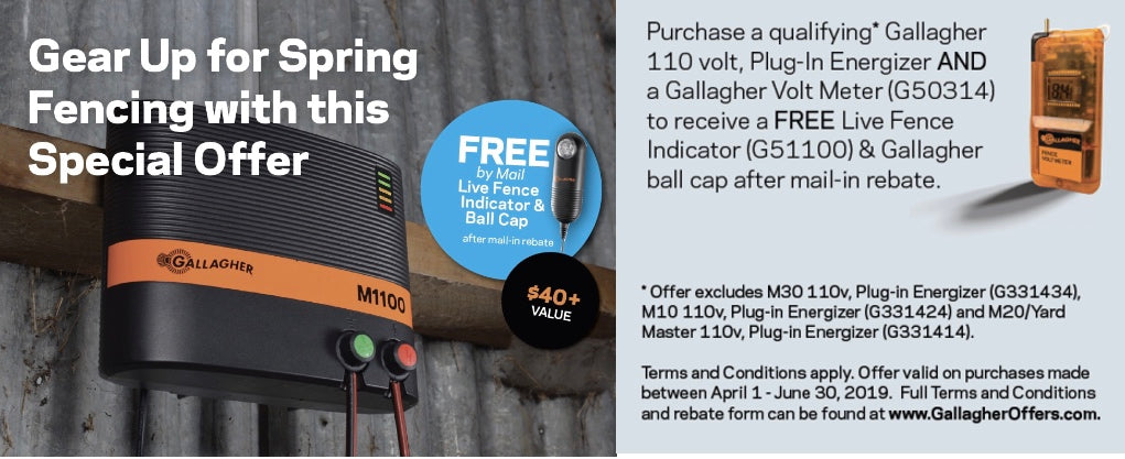 gallagher energizer and Voltmeter special Get $40+ in specials