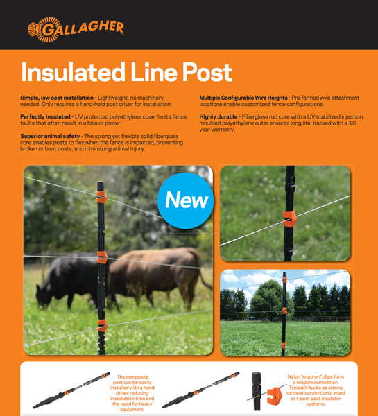 Gallagher flexible insulated line posts