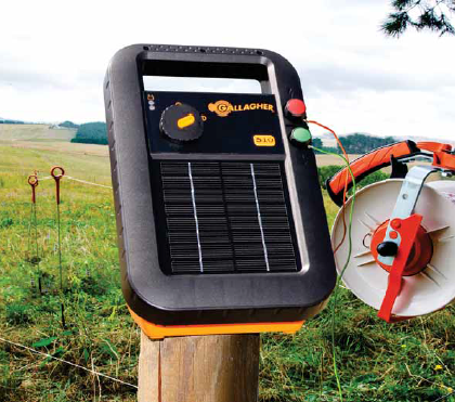 Gallagher S10 Solar Fence Charger on farm