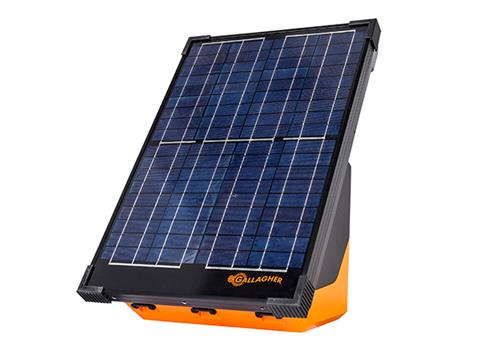 Gallagher's S200 Solar energizer is a fully portable and built to power up to 45 miles / 160 acres of clean fence and boasts several solar technology improvements like multiple power options, that make it ideal for both livestock inclusion and wildlife exclusion. The S200 will continue to work up to 1 week without the sun.  The S200 has a 360 degree mounting capability, making it easy to mount onto a post that is already part of the fence line, no matter what direction the post is facing. Easily face your S200 towards the sun.