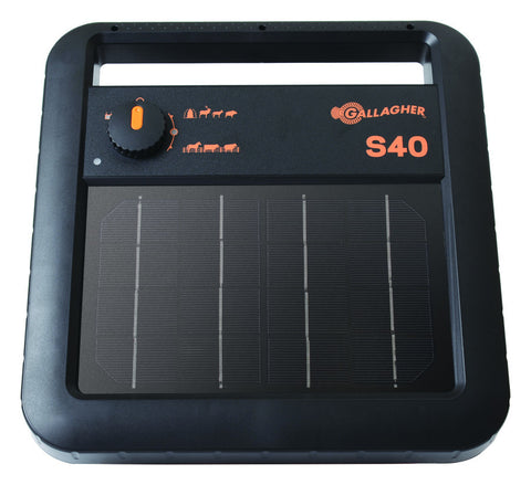 S40 Portable Solar Electric Fence Charger Gallagher
