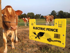 Gallagher Electric Fence Warning Signs 10 Pack - Gallagher Electric Fence