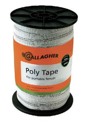 "656' 1.5"" White/Green Tape - Gallagher Electric Fence"