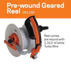 Pre-wound Geared Reel with Turbo Wire - Gallagher Electric Fence