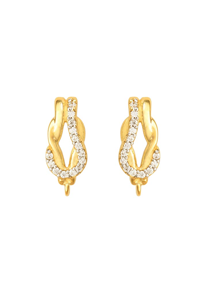 Sincere 14KT Gold Stud Earring By OROSIL_S14KE002