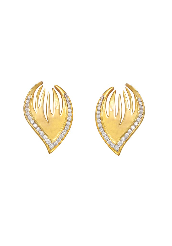 Sincere 14KT Gold Stud Earring By OROSIL_S14KE004