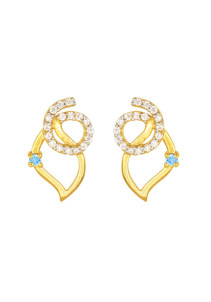 Sincere 14KT Gold Stud Earring By OROSIL_S14KE005