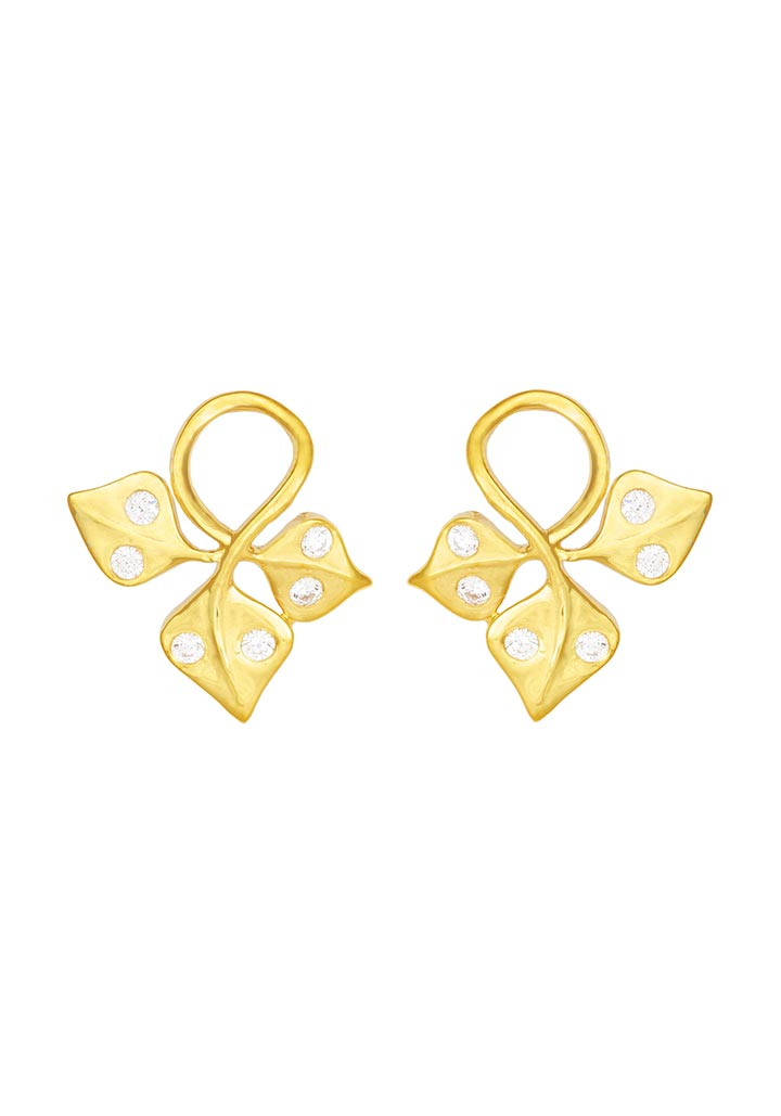 Sincere 14KT Gold Stud Earring By OROSIL_S14KE009