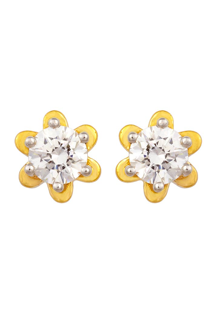 Sincere 14KT Gold Stud Earring By OROSIL_S14KE102