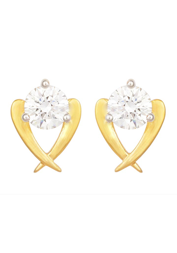 Sincere 14KT Gold Stud Earring By OROSIL_S14KE109