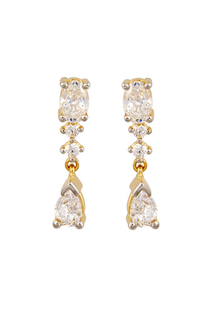 Sincere 14KT Gold Drop Earring By OROSIL_S14KE135