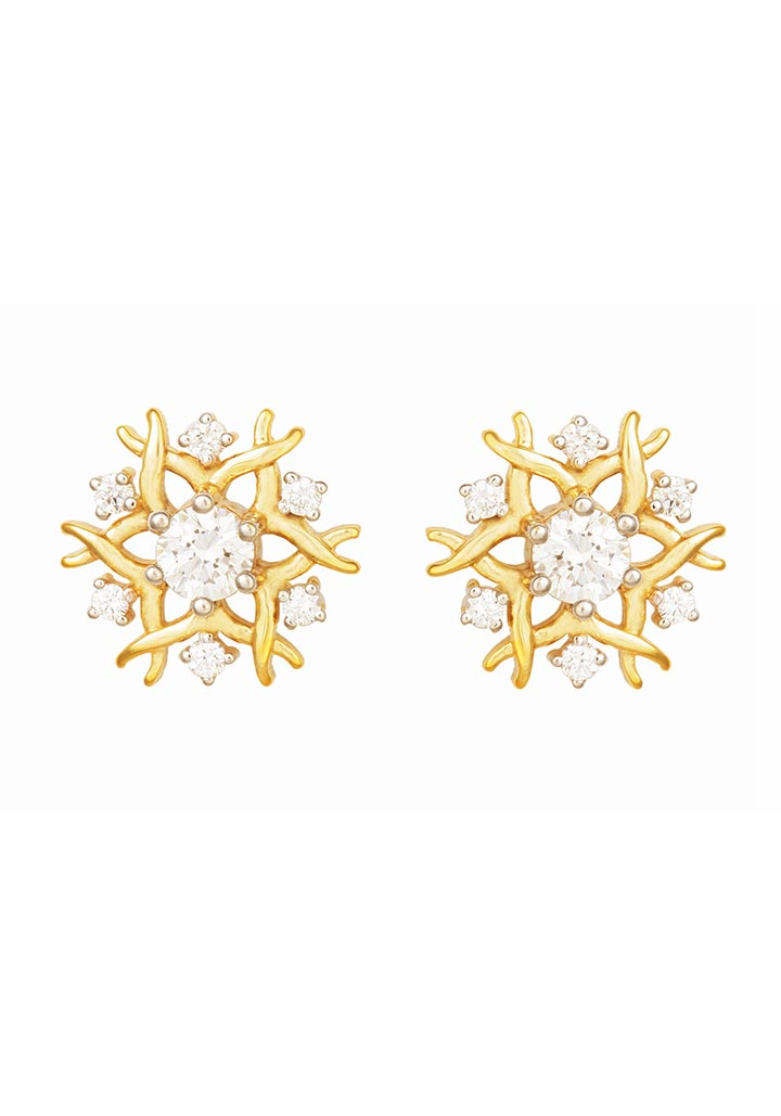 Sincere 14KT Gold Stud Earring By OROSIL_S14KE021