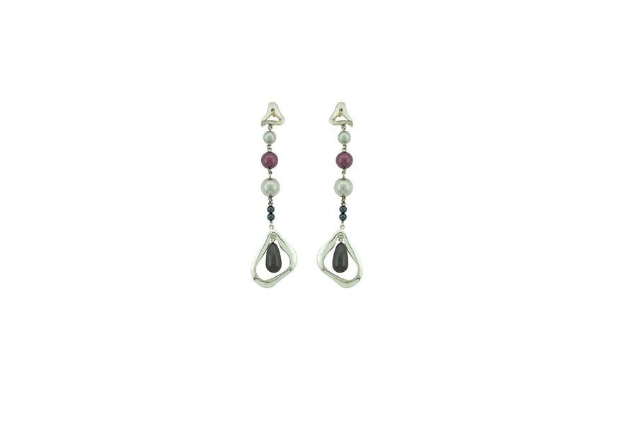 Silver Crystal Earring KCE00022