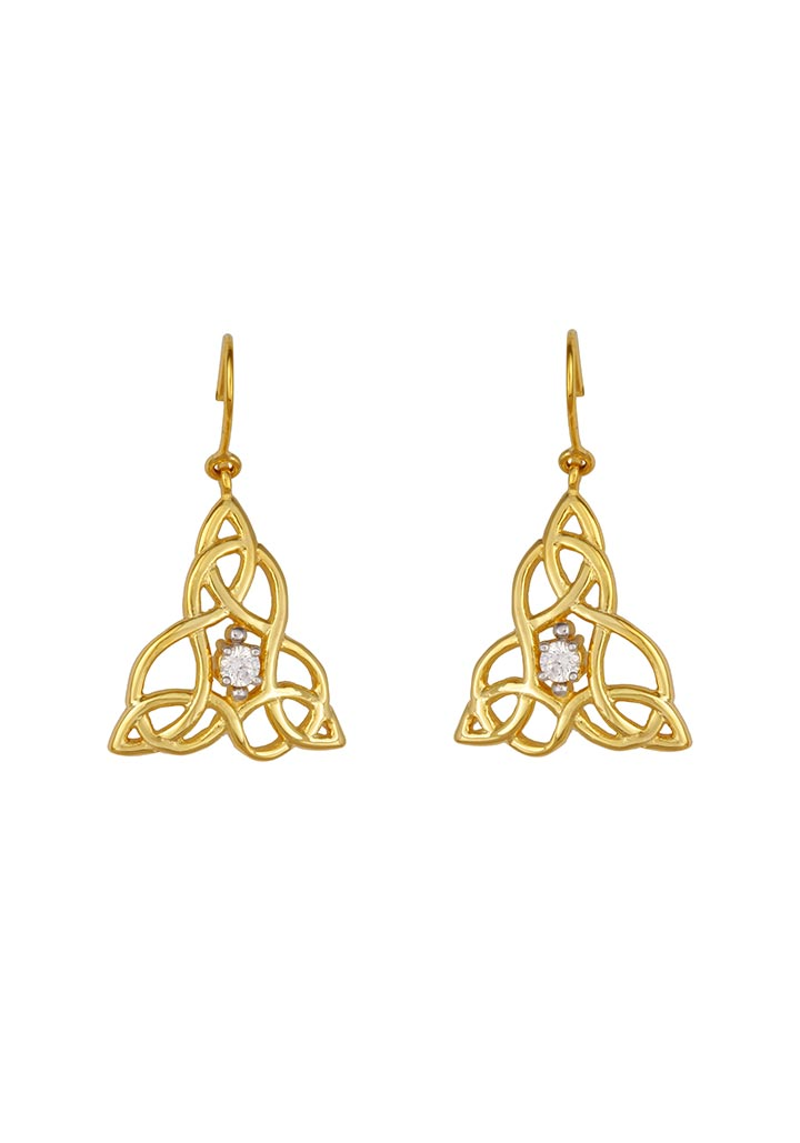 Sincere 14KT Gold Drop Earring By OROSIL_S14KE035