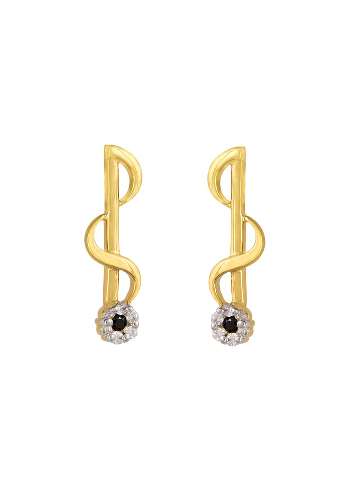 Sincere 14KT Gold Stud Earring By OROSIL_S14KE038