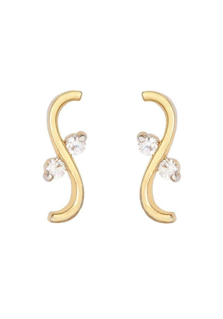 Sincere 14KT Gold Stud Earring By OROSIL_S14KE047
