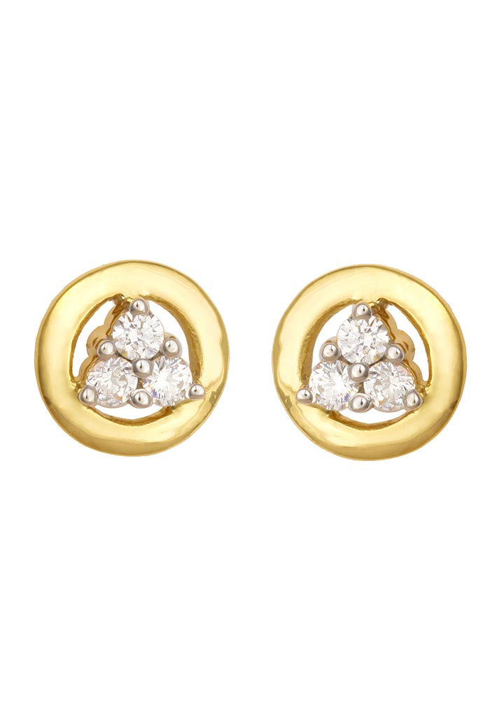 Sincere 14KT Gold Stud Earring By OROSIL_S14KE055