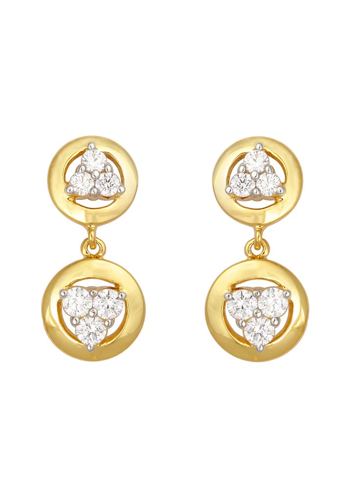 Sincere 14KT Gold Drop Earring By OROSIL_S14KE056