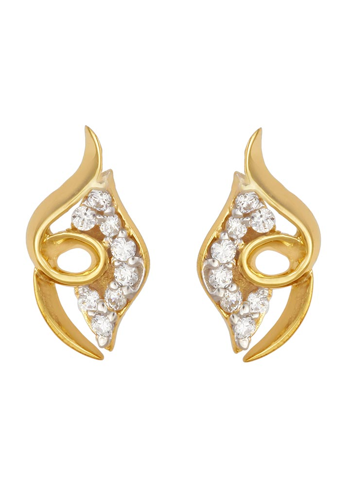 Sincere 14KT Gold Stud Earring By OROSIL_S14KE059
