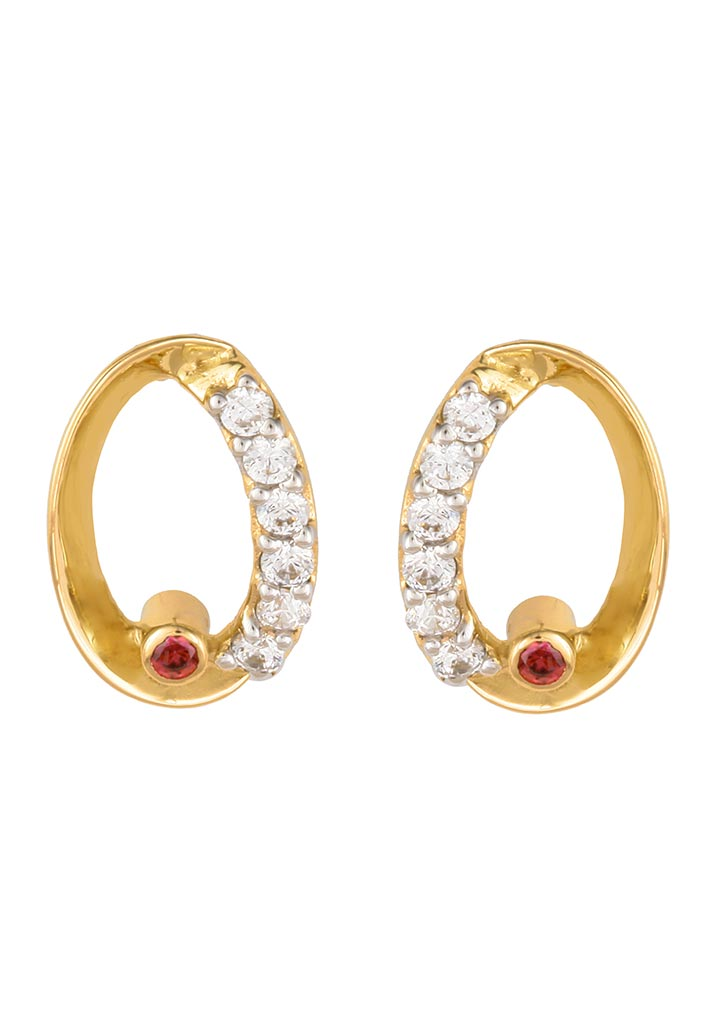 Sincere 14KT Gold Stud Earring By OROSIL_S14KE062