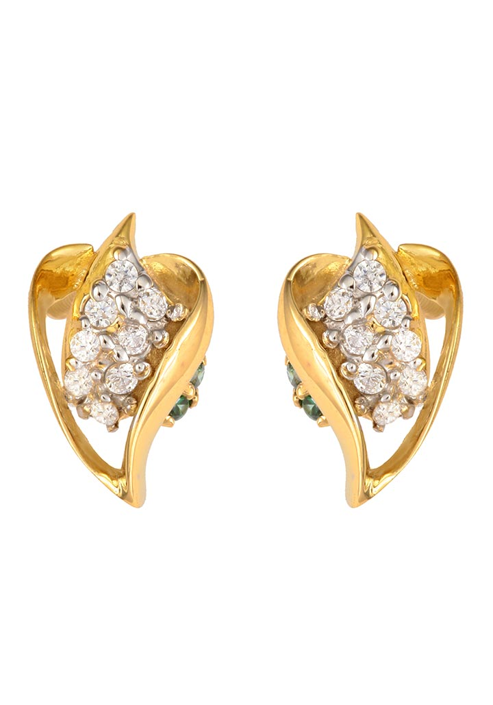 Sincere 14KT Gold Stud Earring By OROSIL_S14KE065