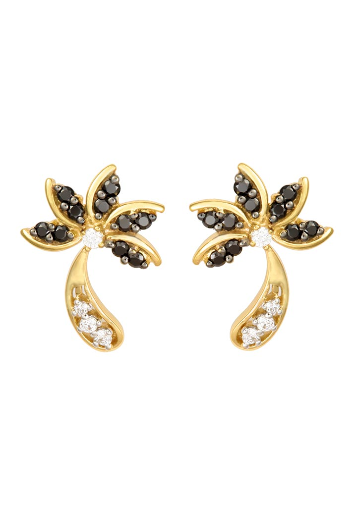 Sincere 14KT Gold Stud Earring By OROSIL_S14KE071
