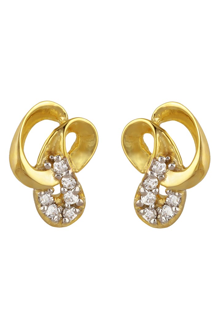 Sincere 14KT Gold Stud Earring By OROSIL_S14KE073
