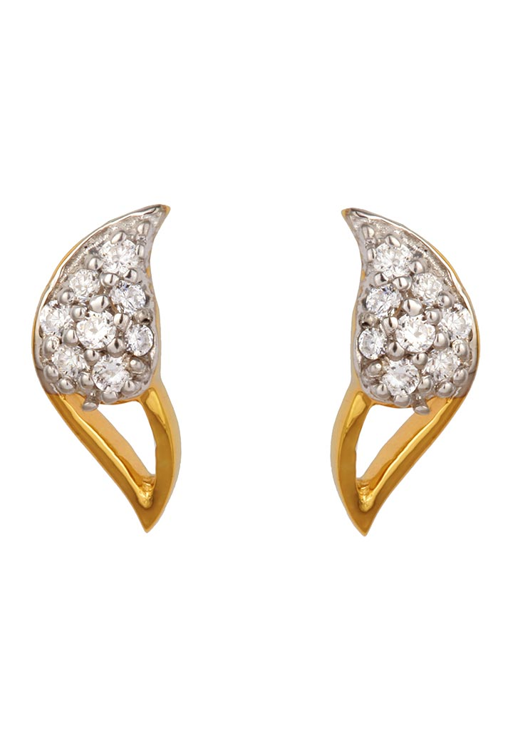 Sincere 14KT Gold Stud Earring By OROSIL_S14KE079