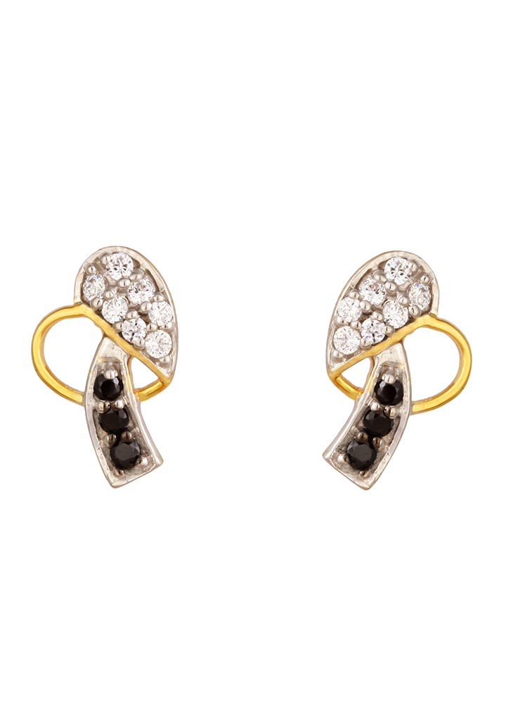 Sincere 14KT Gold Stud Earring By OROSIL_S14KE085