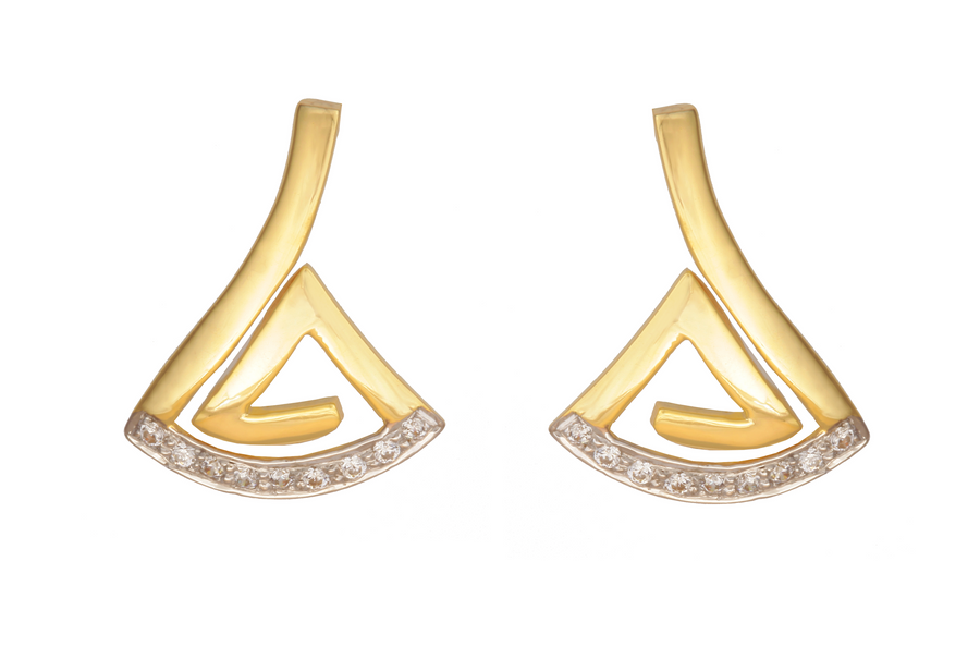 Sincere 14KT Gold Stud Earring By OROSIL_S14KE028