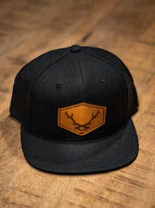 WS Leather Patch Snapback Cap