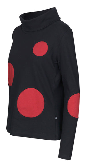 Hadia Top Black/Red - Isaksen design