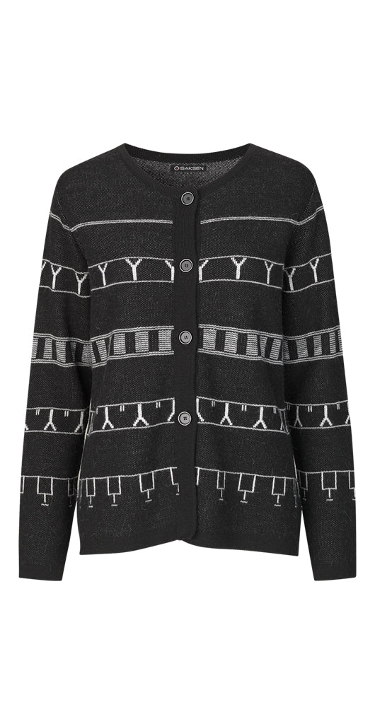 Idun Cardigan Black - Isaksen design