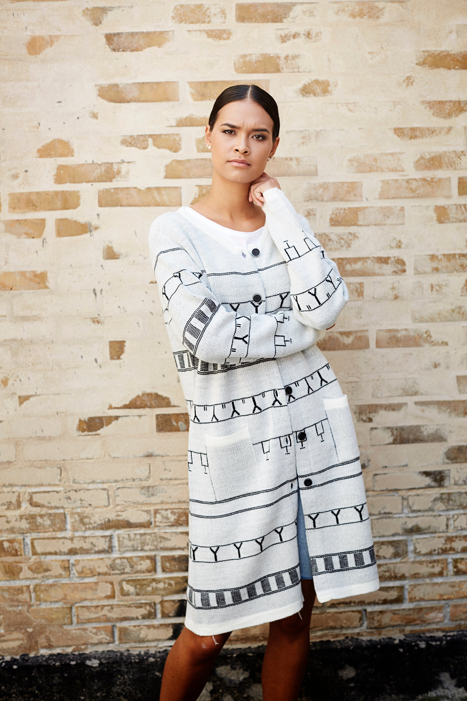 Ika Cardigan White - Isaksen design