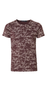 T-Shirt Tiara Bordeaux Girl