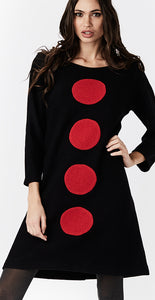 Vinnie Dress black red