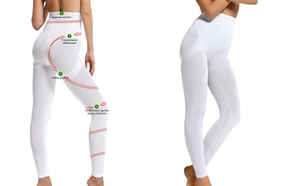 SENSI' Leggings Modellante Donna vita alta Senza Cuciture Made in Italy - SENSI'