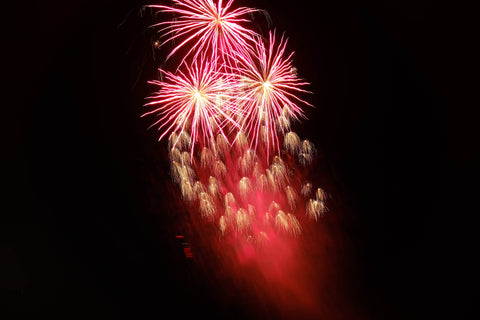 CharmaineLouise Books CLBooks red fireworks display