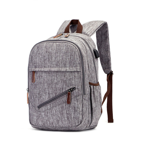 Men's Waterproof Backpack with USB - Grey