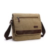 Image of Men's Messenger Bag -  Retro Canvas Shoulder Bag - Light Brown